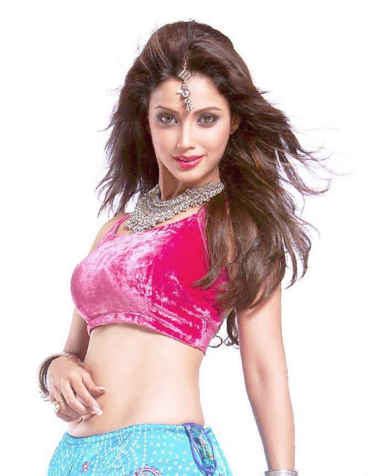Adaa Khan Hindi Serial Tv Actress Navel Busty Cleavage -4912