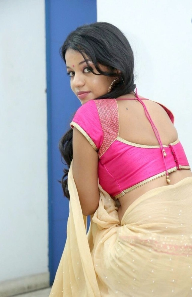 Actress Bhavya Sri Half Saree Spicy Stills, Tamil Actress Bhavya Sri Hot Photoshoot Stills