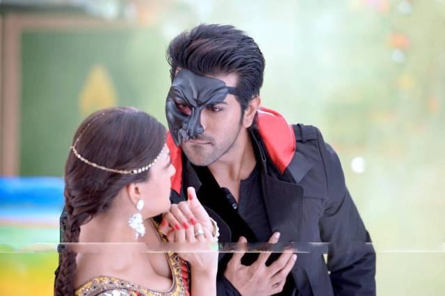 Ram Charan and Kajal Aggarwal in Ramleela Tamil Movie Stills