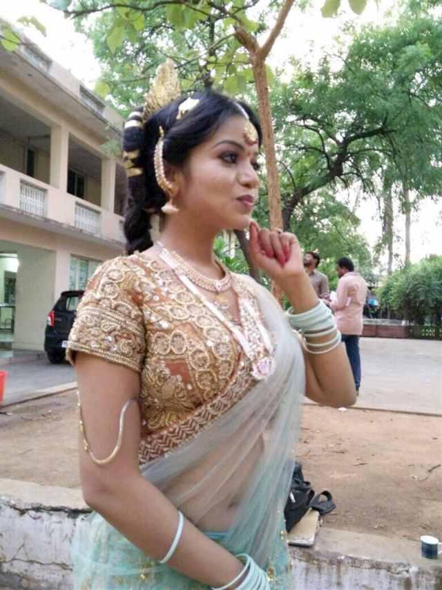 Actress Bhavya Sri Stills in Sathee Thimmamamba Movie
