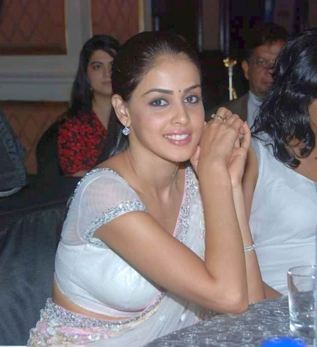 Genelia hot boob and navel show in transparent saree (5)