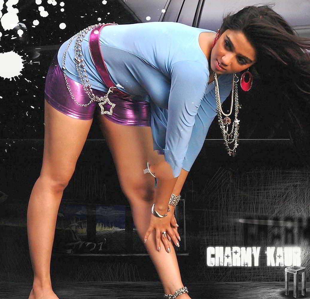 Best Of Hot Busty Maal Charmi Kaur Navel Thighs Boobs -9906
